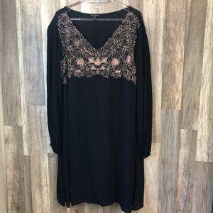 As U Wish Black Long Sleeve Dress 1X